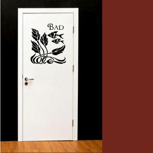 wandtattoo badezimmert r bad fisch crazy art connection. Black Bedroom Furniture Sets. Home Design Ideas