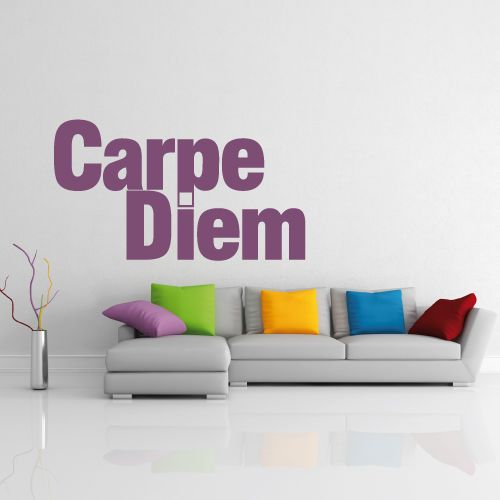 wandtattoo carpe diem genie e den tag crazy art connection. Black Bedroom Furniture Sets. Home Design Ideas