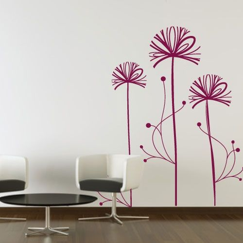 wandtattoos blumen f r alle w nde crazy art connection. Black Bedroom Furniture Sets. Home Design Ideas