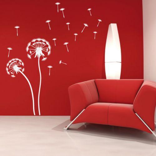 wandtattoo gigantische pusteblume crazy art connection. Black Bedroom Furniture Sets. Home Design Ideas