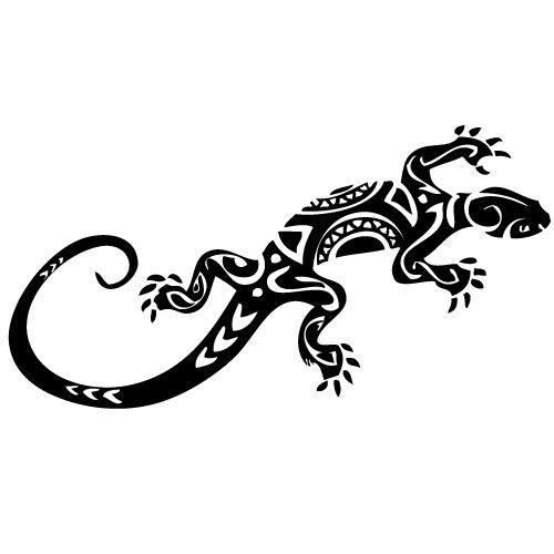 Wandtattoo gecko eidechse salamander